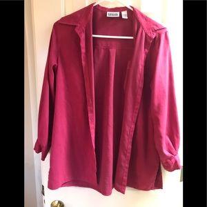 Chico's Design Dark Pink Button Blouse Size 0